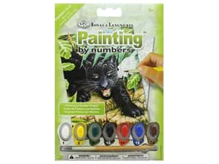 Royal Paint By Number Kit Mini Black Leopard