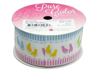 "Morex Ribbon Satin Sweet Baby 1.5""x 3yd Baby Feet"