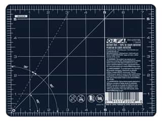 cutting mat quilting: Olfa Rotary Mat 6 in. x 8 in. Navy Blue With Grid