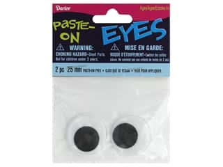 Darice Googly Eyes Paste-On 25 mm Black 2 pc.
