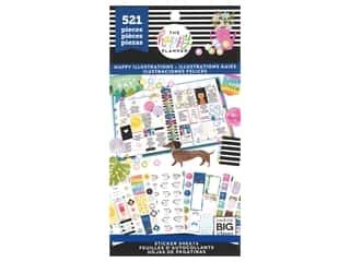 Me&My Big Ideas Happy Planner Sticker Value Pack Happy Illustrations