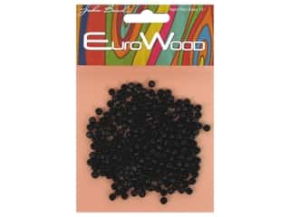 John Bead Wood Bead Round 4 mm Black