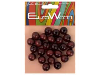 beading & jewelry making supplies: John Bead Wood Bead Round 12 mm Mahogany