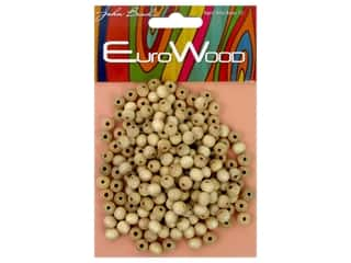beading & jewelry making supplies: John Bead Wood Bead Round 6 mm Natural