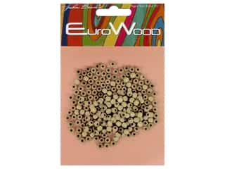 beading & jewelry making supplies: John Bead Wood Bead Round 4 mm Natural