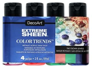 craft & hobbies: Decoart Extreme Sheen Metallic Paint The Crown Jewels 4 pc
