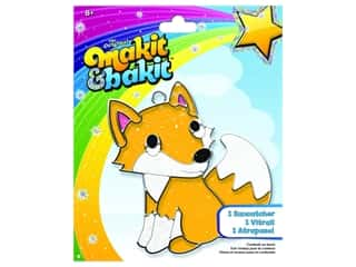 craft & hobbies: Colorbok Kit Makit & Bakit Suncatcher Fox