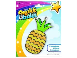 craft & hobbies: Colorbok Kit Makit & Bakit Suncatcher Pineapple