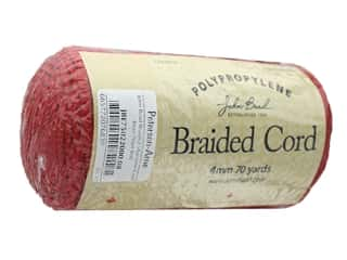John Bead Braided Macrame Cord 4 mm 70 yd Red
