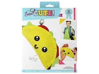 projects & kits: Colorbok Kit Sew Cute Backpack Clip Taco
