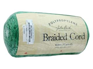 John Bead Braided Macrame Cord 4 mm 70 yd Kelly Green