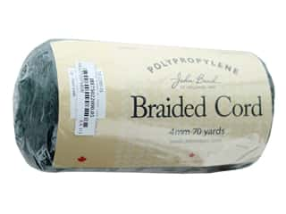 cording: John Bead Braided Macrame Cord 4 mm 70 yd Forest Green
