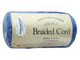 cording: John Bead Braided Macrame Cord 4 mm 70 yd Royal Blue