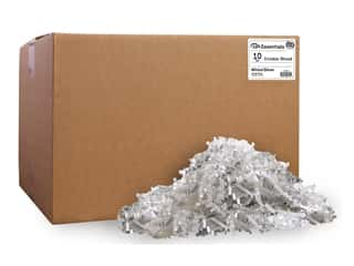 craft & hobbies: PA Essentials Crinkle Shred 10 lb. White/Silver