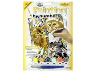 craft & hobbies: Royal Paint By Number Junior Small Kittens & Daises