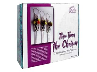 craft & hobbies: Pepperell Kit Designer Three Times The Charm Wall Hangers