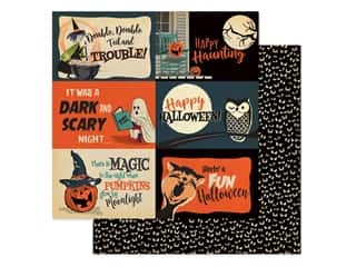 "Carta Bella Collection Happy Halloween Paper 12""x 12"" Journaling Cards 4""x 6"" (25 pieces)"