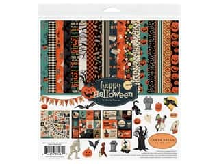 patterned paper kit: Carta Bella Collection Happy Halloween Collection Kit 12 in. x 12 in.