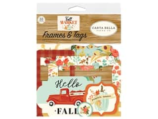 scrapbooking & paper crafts: Carta Bella Collection Fall Market Frames & Tags