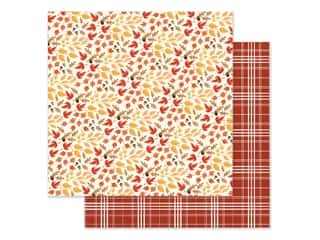 "Cardstock: Carta Bella Collection Fall Market Paper 12""x 12"" Rustling Leaves (25 pieces)"