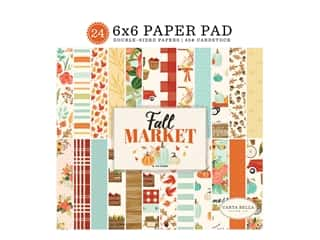 "designer paper: Carta Bella Collection Fall Market Paper Pad 6""x 6"""