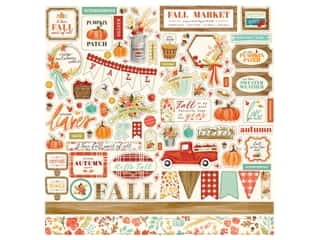 "Carta Bella Collection Fall Market Sticker 12""x 12"" Elements (15 sets)"