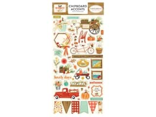 "Carta Bella Collection Fall Market Chipboard 6""x 12"" Accents"
