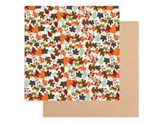 "Echo Park Collection My Favorite Fall Paper 12""x 12"" Falling Leaves (25 pieces)"