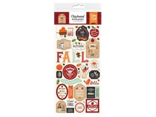 "Echo Park Collection My Favorite Fall Chipboard 6""x 12"" Phrases"