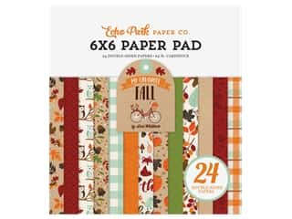 "scrapbooking & paper crafts: Echo Park Collection My Favorite Fall Paper Pad 6""x 6"""
