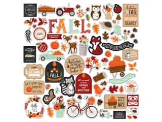 "Echo Park Collection My Favorite Fall Sticker 12""x 12"" Element (15 pieces)"