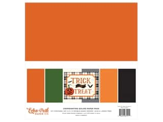 "scrapbooking & paper crafts: Echo Park Collection Trick Or Treat Solids Kit 12""x 12"""