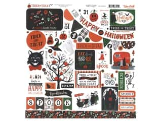 "Echo Park Collection Trick Or Treat Sticker 12""x 12"" Elements (15 pieces)"