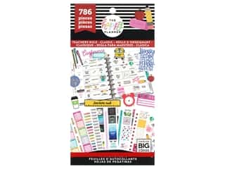 scrapbooking & paper crafts: Me&My Big Ideas Happy Planner Sticker Value Pack Teachers Rule