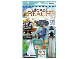 scrapbooking & paper crafts: Paper House Dimensional Stickers - Travel-Beach