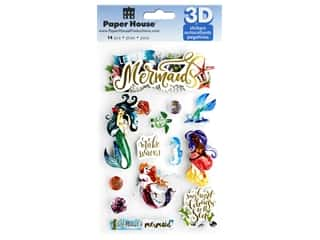 Paper House Sticker 3D Mermaids