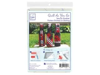 June Tailor Batting Quilt As You Go Cotton/Polyester Wine Totes 3 pc