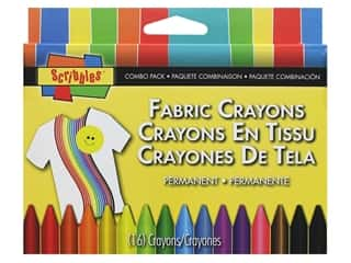 Scribbles Fabric Crayons 16 pc. Combo Pack