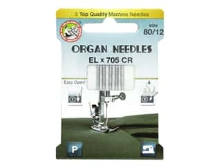 Organ Needle Company Machine Needles ELX705 CR Size 80/12 5 pc