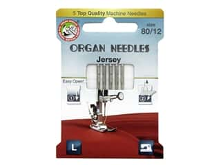 Organ Needle Company Machine Needles Jersey Size 80/12 5 pc