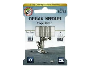 Organ Needle Company Machine Needles Top Stitch Size 80/12 5 pc