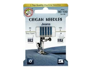 Organ Needle Company Machine Needles Jeans Size 90-100 5 pc