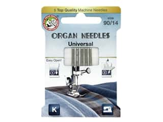 Organ Needle Company Machine Needles Universal Size 90/14 5 pc