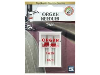 Organ Needle Company Machine Needles Twin Size 80/3mm 2 pc