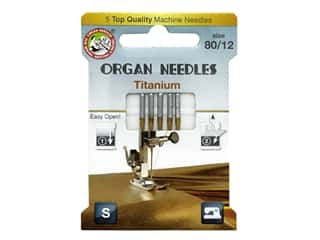 Organ Needle Company Machine Needles Titanium Size 80/12 5 pc