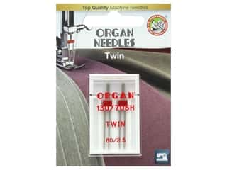 Organ Needle Company Machine Needles Twin Size 80/2.5mm 2 pc