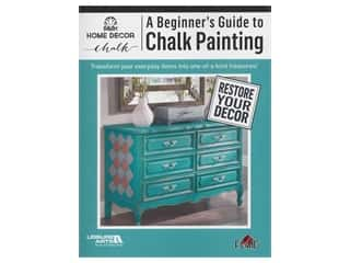 books & patterns: Leisure Arts A Beginner's Guide To Chalk Painting Book