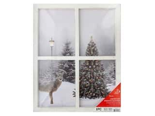 craft & hobbies: Darice Light Up Canvas 15.7 in. x 19.6 in. Christmas
