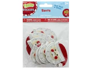 Darice Felties Sticker Felt Santa Face 10 pc