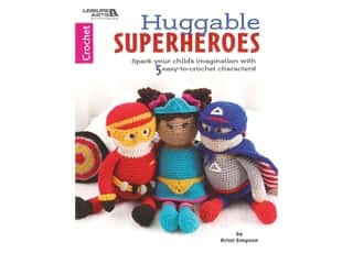 Leisure Arts Huggable Superheroes Crochet Book
